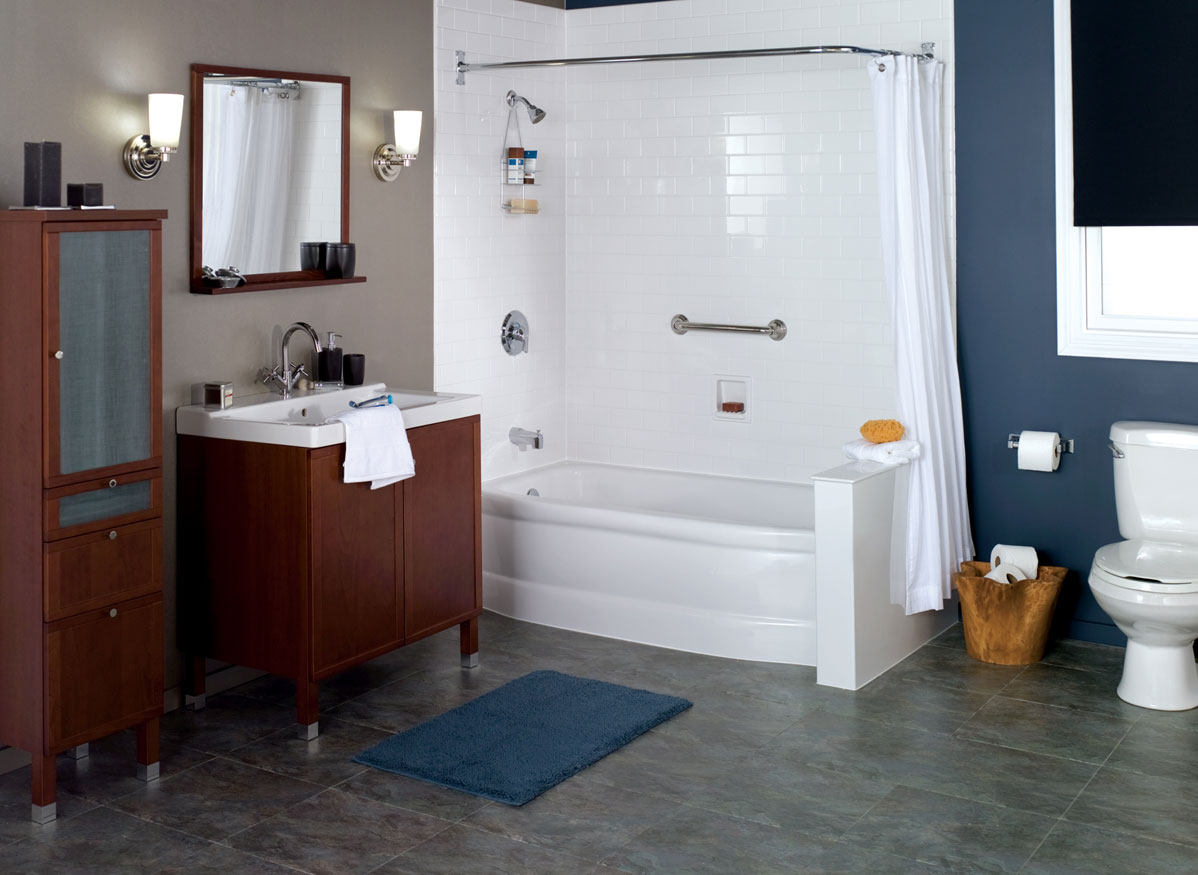 Bathtub shower combo tub shower combo one day bath for Bathroom ideas with tub and shower