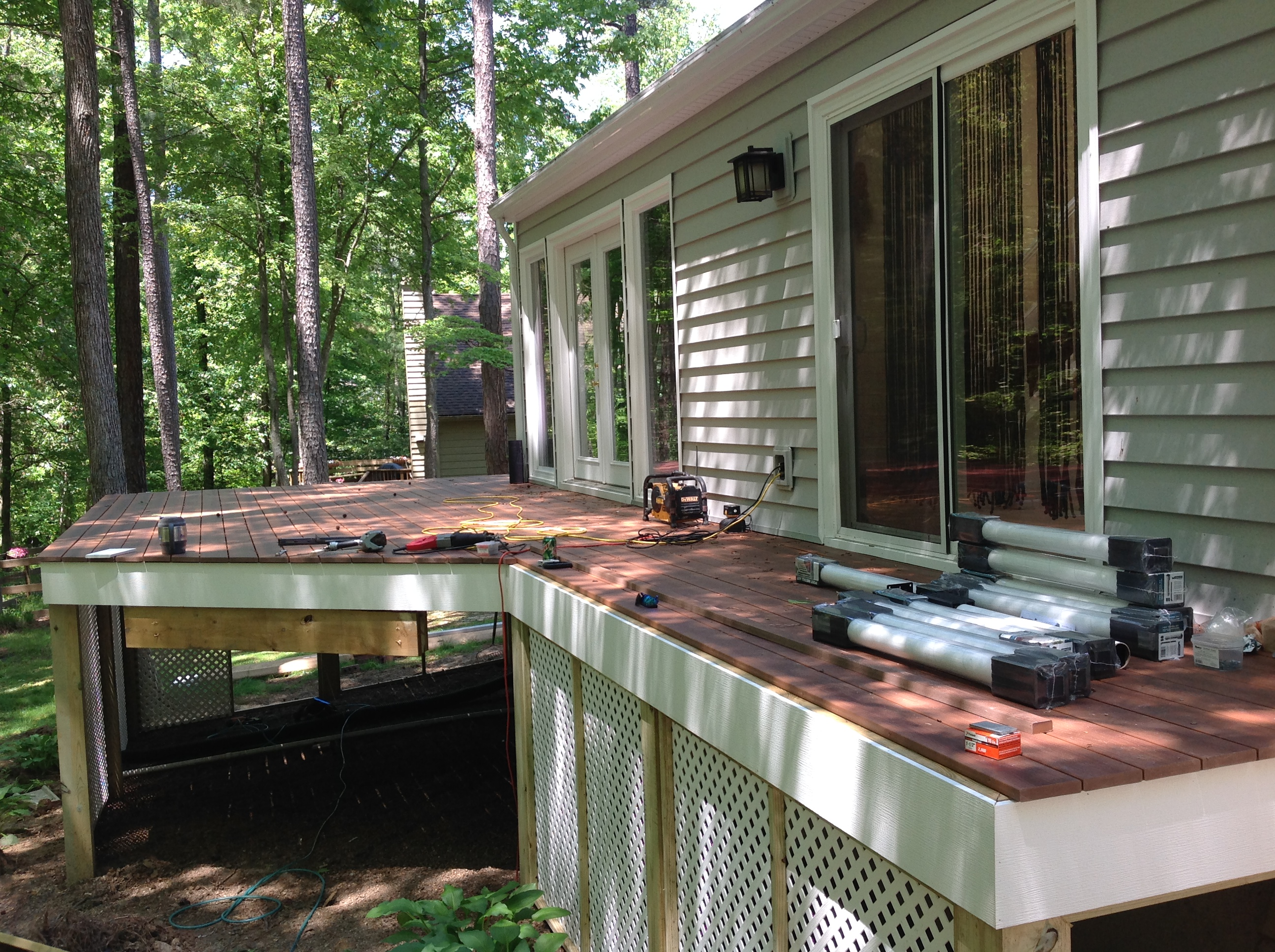 new deck in brandermill maintenance free outdoor space done