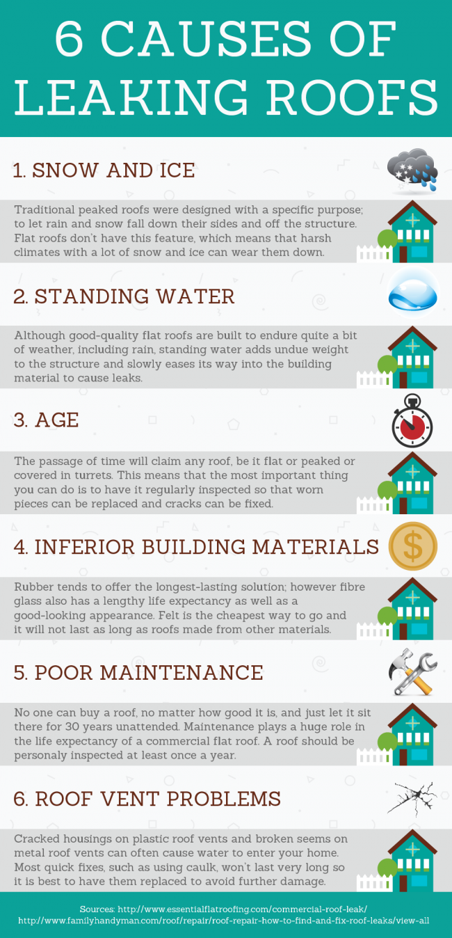 6 Causes of Leaking Roofs
