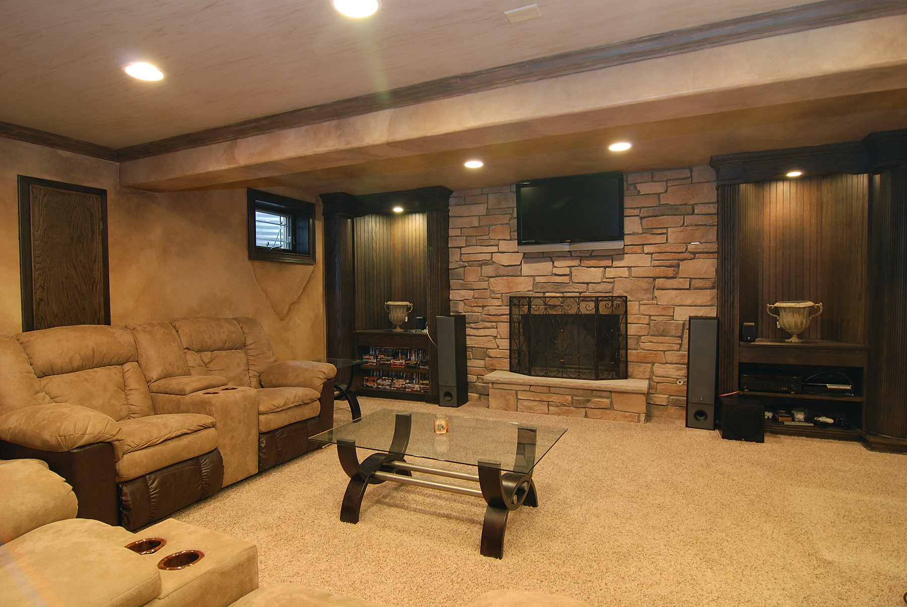 Chicago basement remodeling basement remodel chicago basement finishing homewerks - Finished basement ideas pictures ...
