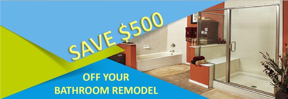 $500 Off Bathroom Remodel*
