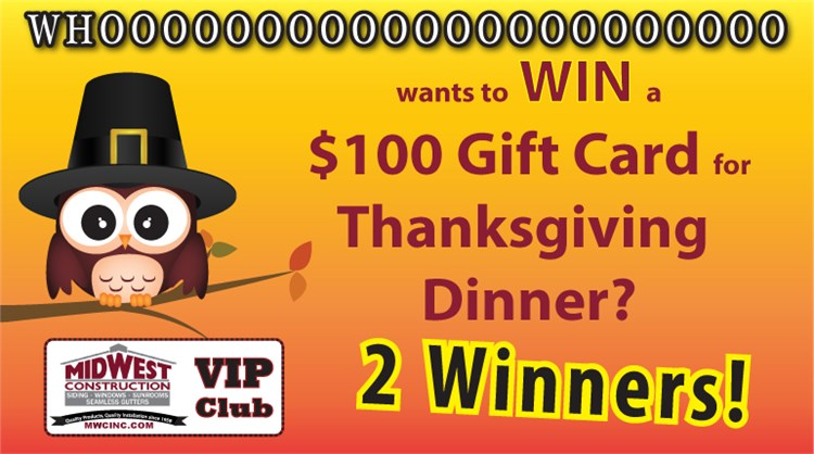 WHOOOOOOOO Wants to Win $100 for Your Thanksgiving Dinner?