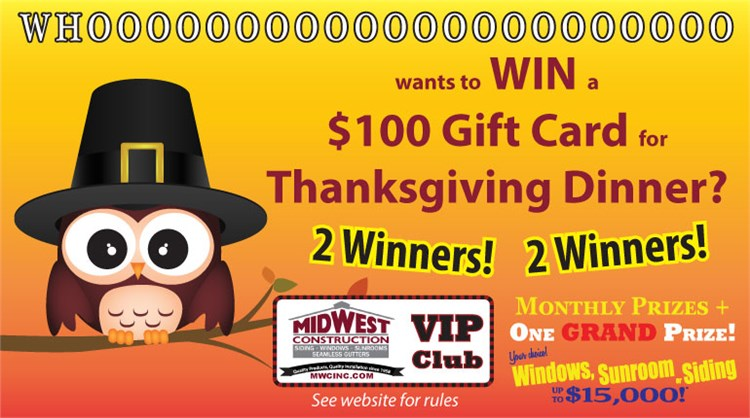 Win $100 for a Fabulous Thanksgiving Dinner!