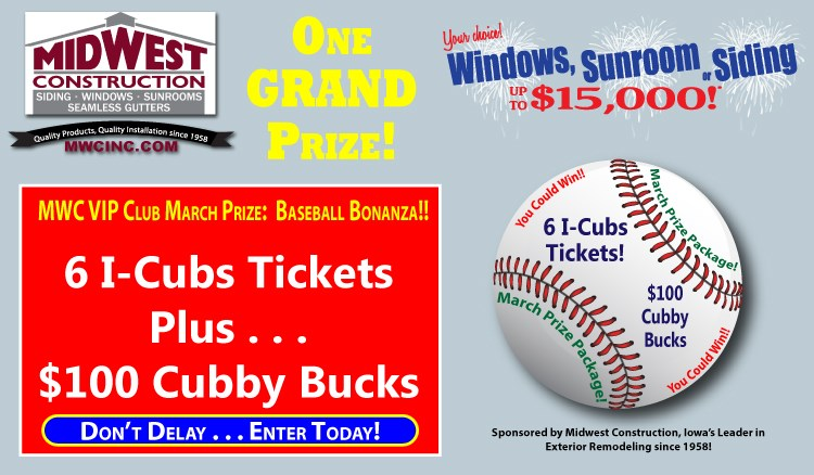 Family Fun Pack to I-Cubs Game!