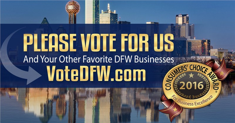 Vote for Us! Consumers' Choice Award 2016 - Home Remodeling in DFW