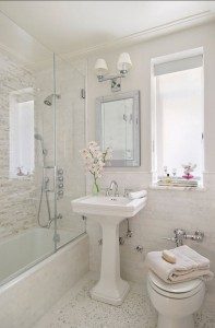 Sneaky Tricks To Making Your Small Bathroom Look Bigger - Colors that make a small bathroom look bigger