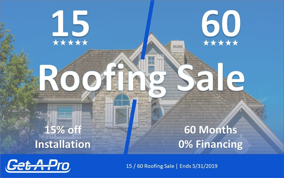 15 / 60 Spring Roofing Sale