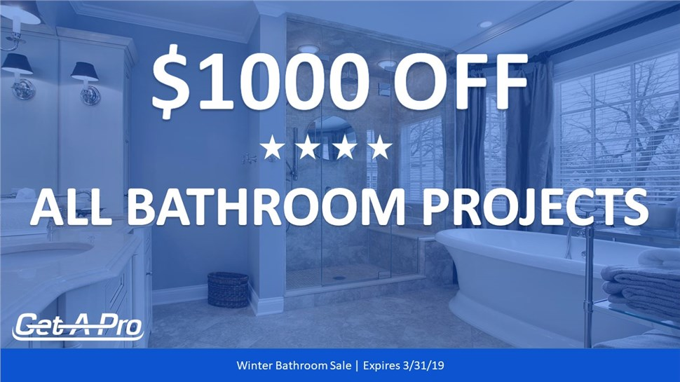 Spring Bathroom Special - $1000 Off