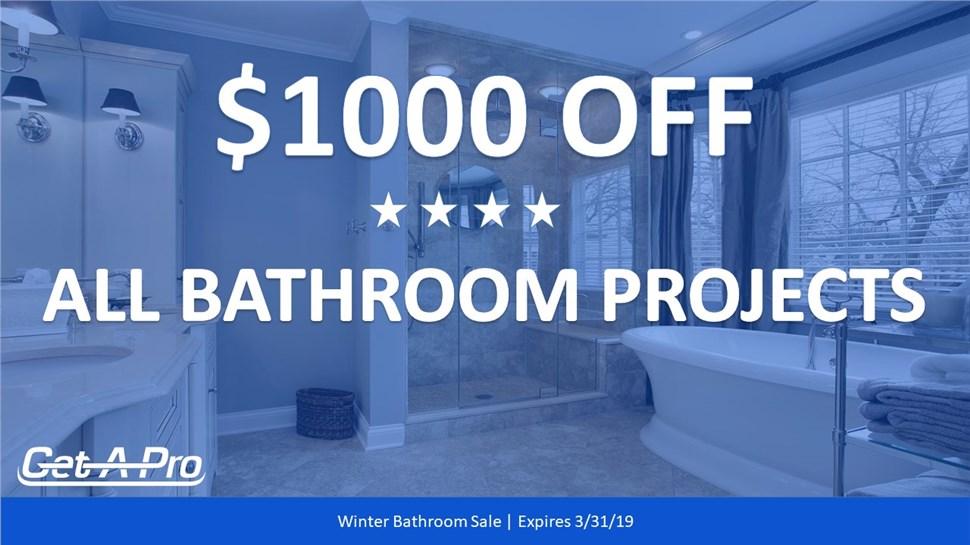 Spring Bathroom Special - $1000 Off