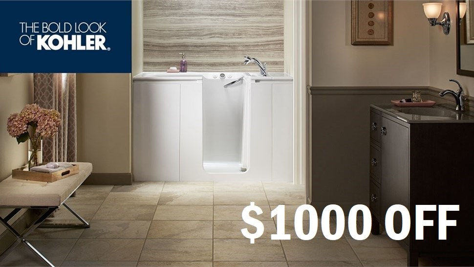 Save $1000 on your Walk in Bath
