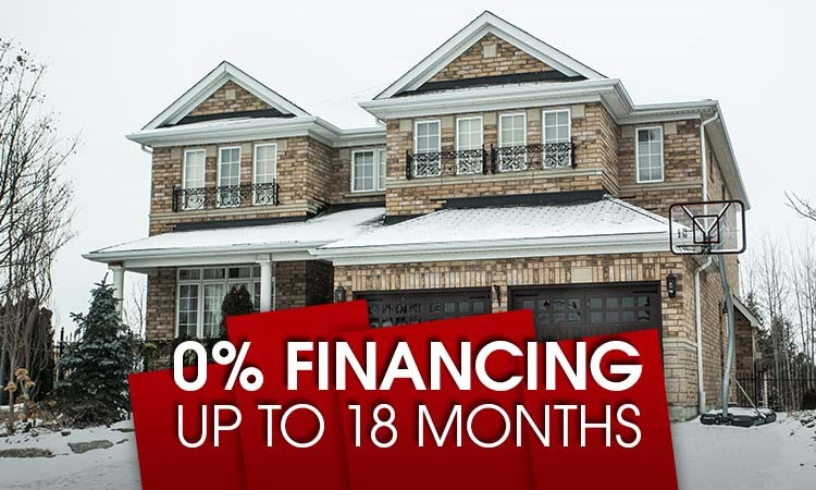 Interest Free Financing For Up To 18 Months!
