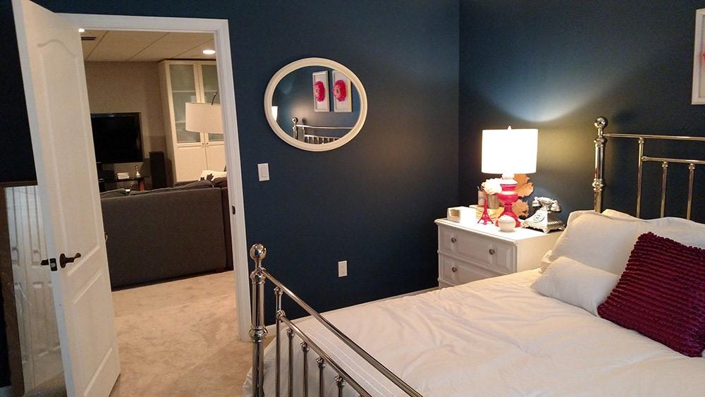 bedroom in basement. Cincinnati Basement Guest Bedroom  in Boost