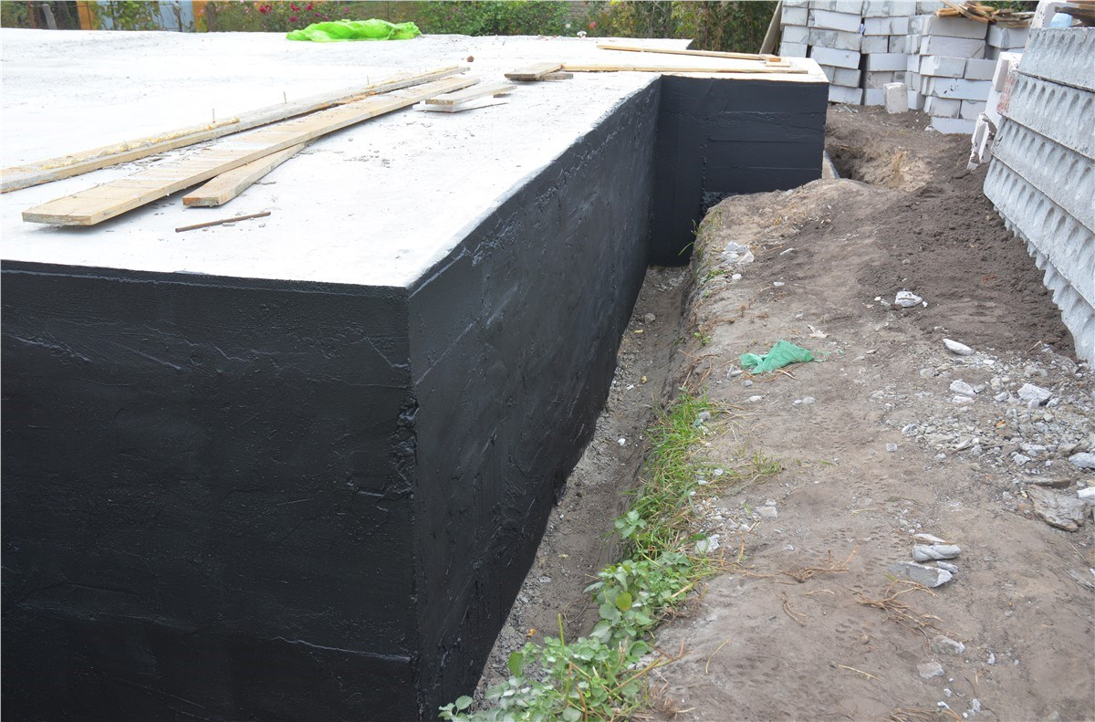 Foundation waterproofing. Kinds 44