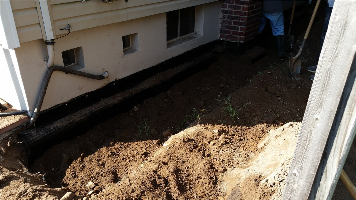 Exterior basement waterproofing exterior waterproofing mid atlantic Exterior basement waterproofing