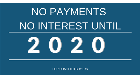No Payments Until 2020!