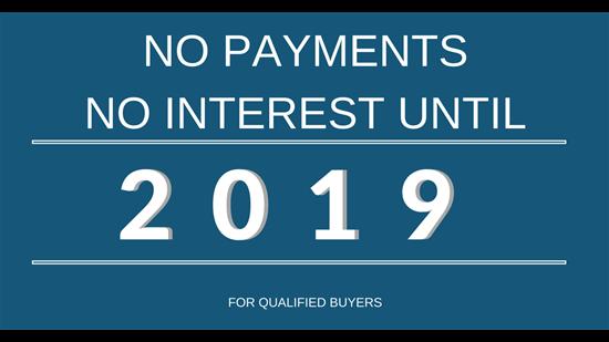 No Payments Until 2019!