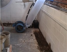 Air mover to help with dust control