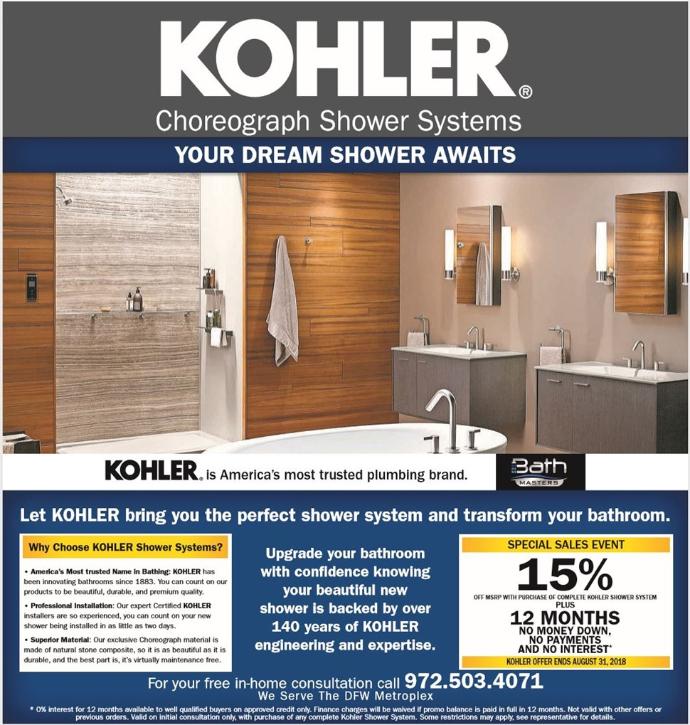 SPECIAL SALES EVENT! 15% OFF! - Bath Masters