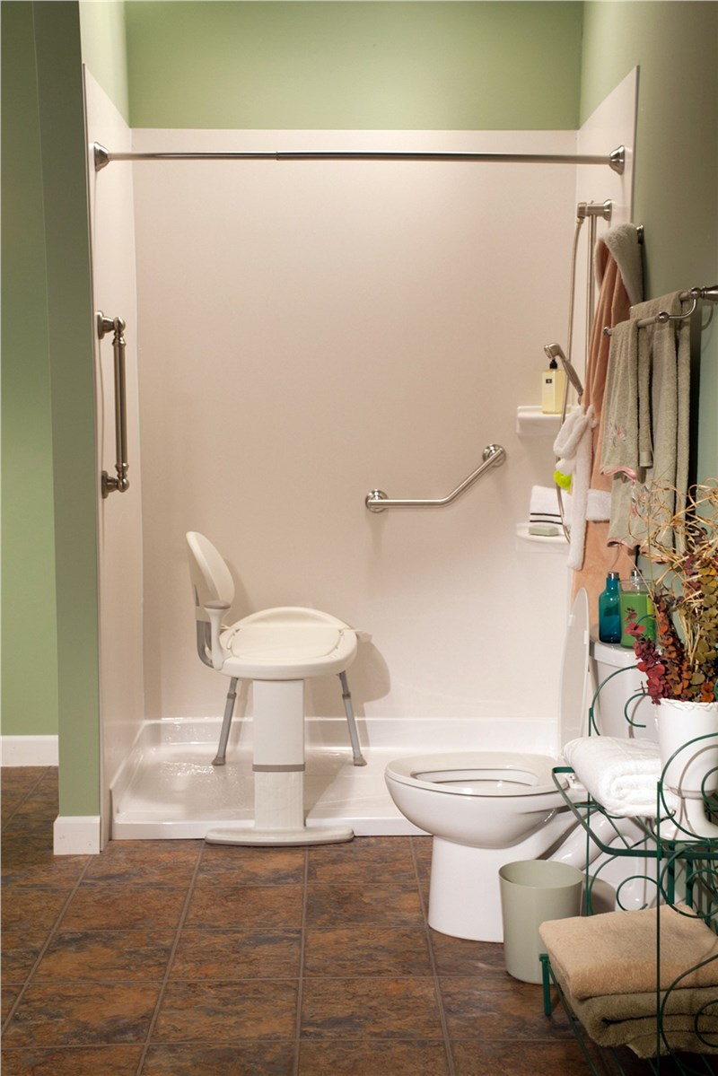 Accessible Bathroom Solutions: Barrier-Free Shower Bases - Bath ...