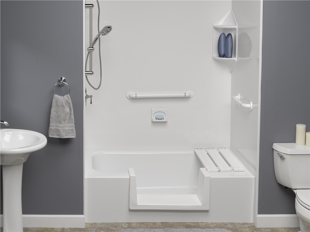 Fort Lauderdale Step Thru Insert Shower Replacement Bathrooms Plus