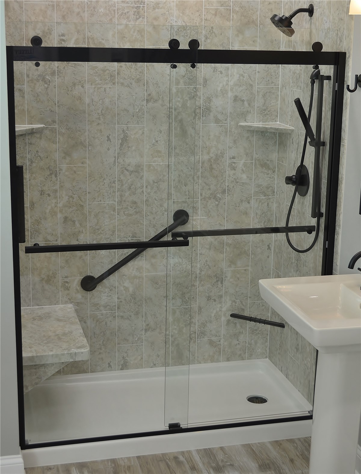 Bathtub To Shower Conversion Before And After Master Bath