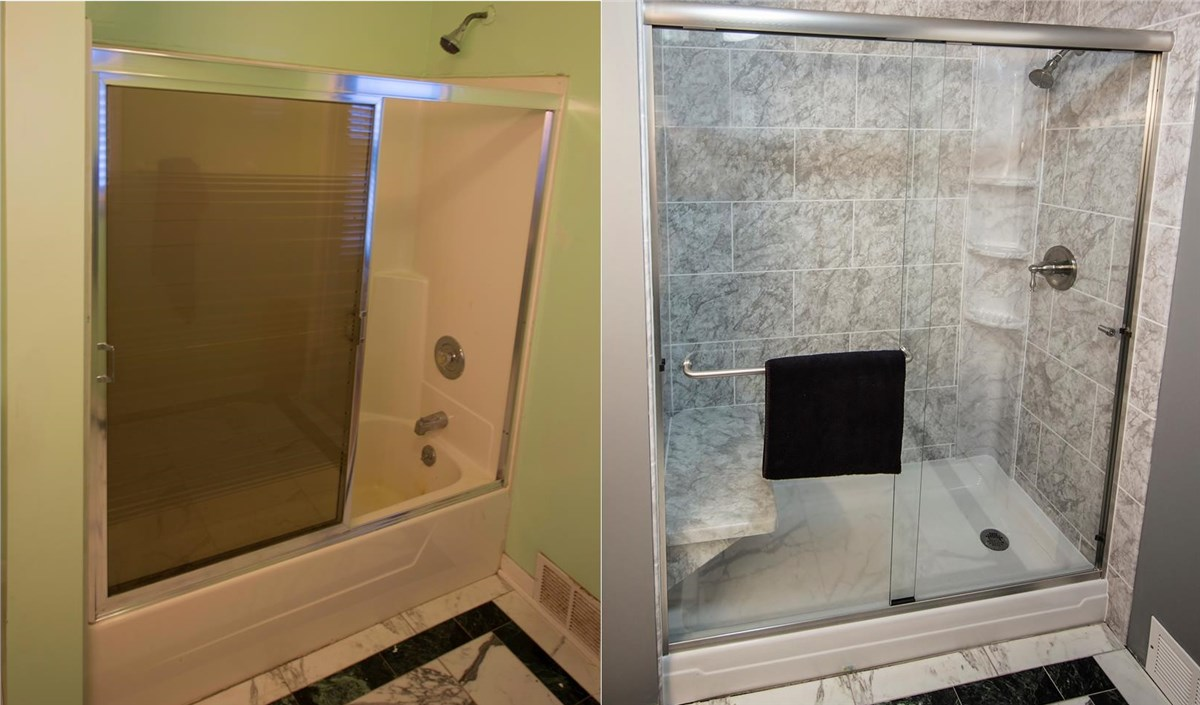 of remodel kit cost converting within tub size small idea conversion bathtub shower to uk