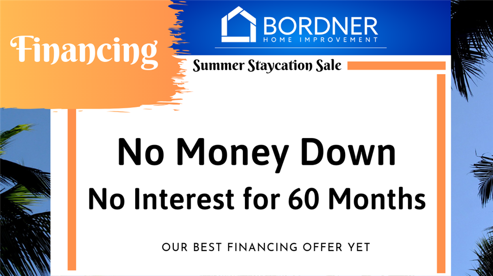 NO Money Down - NO Interest for 60 Months!