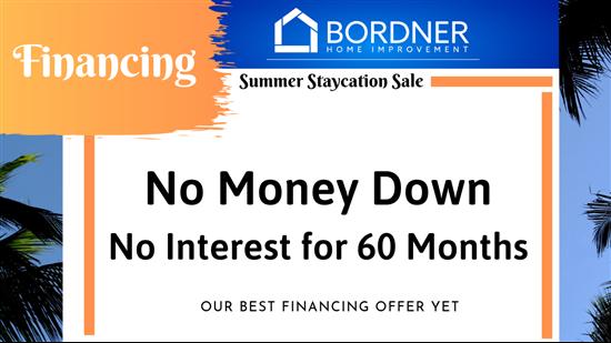 NO Money Down - NO Interest for 60 Months!