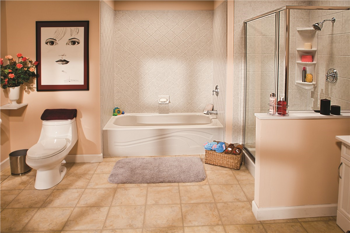 One day bath omaha one day bathroom remodel bath for Bathroom remodel 1 day