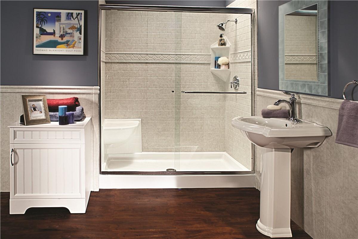 New showers denver bathroom shower installation bath for Bathroom remodel denver cost