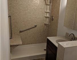 Bathroom Conversion - Tub to Shower Photo 2