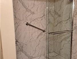 Bathroom Conversion - Tub to Shower Photo 3