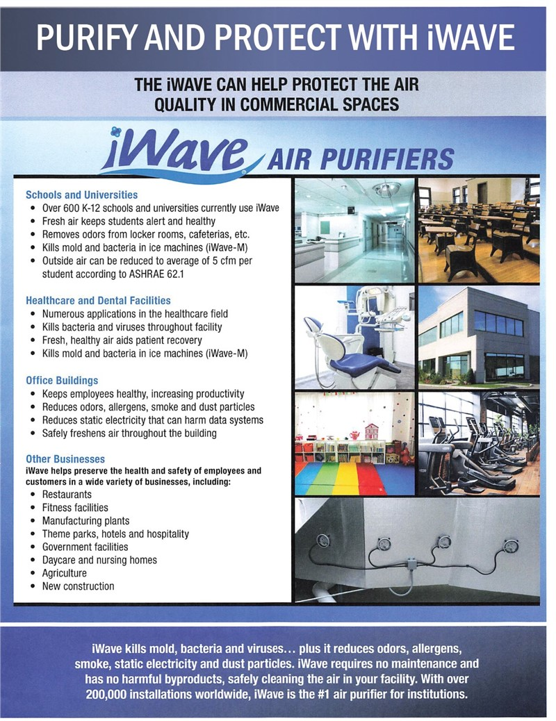 Purify And Protect Your Place Of Business With iWAVE