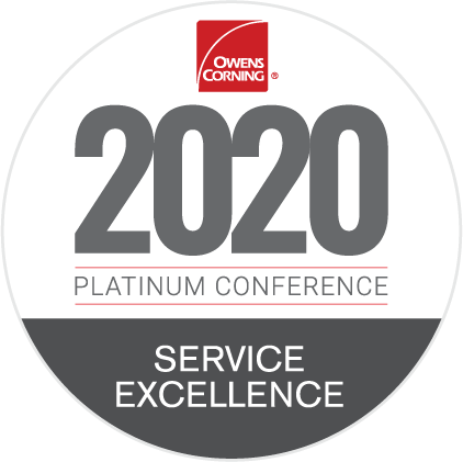 2020 Owens Corning Service Excellence Award Recipient
