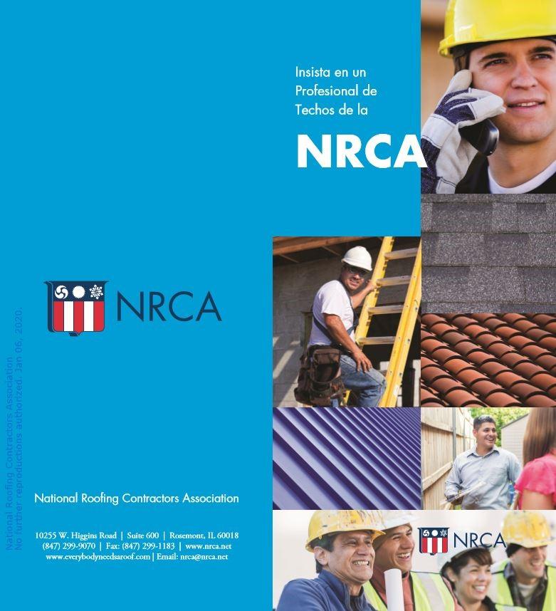 Insista en un Profesional de Techos de la NRCA