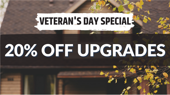 20% Off Upgrades through the month of November
