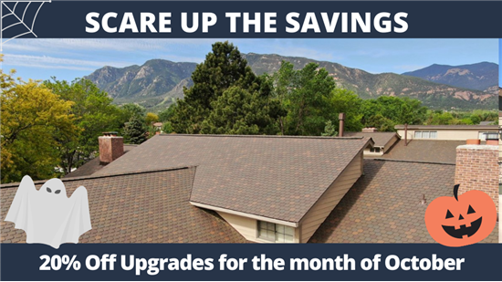 20% Off Upgrades through the month of October