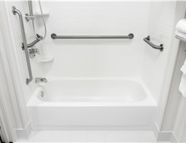 Bathroom Remodel - Solid Surface Wall Systems Photo 3