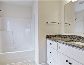 Bathroom Remodel - Solid Surface Wall Systems Photo 2