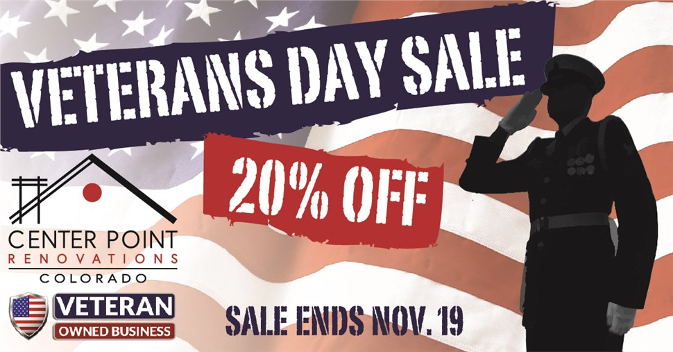 20% off PLUS a Special Deal for Vets