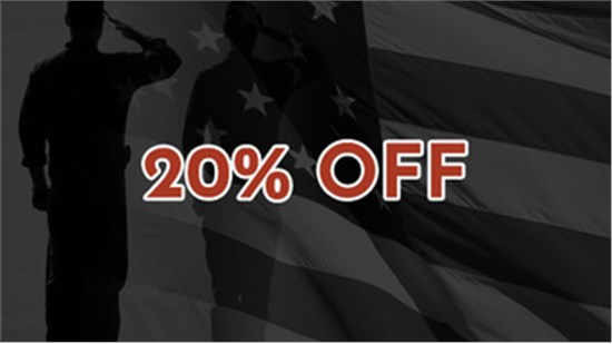 20% OFF Military Discount!