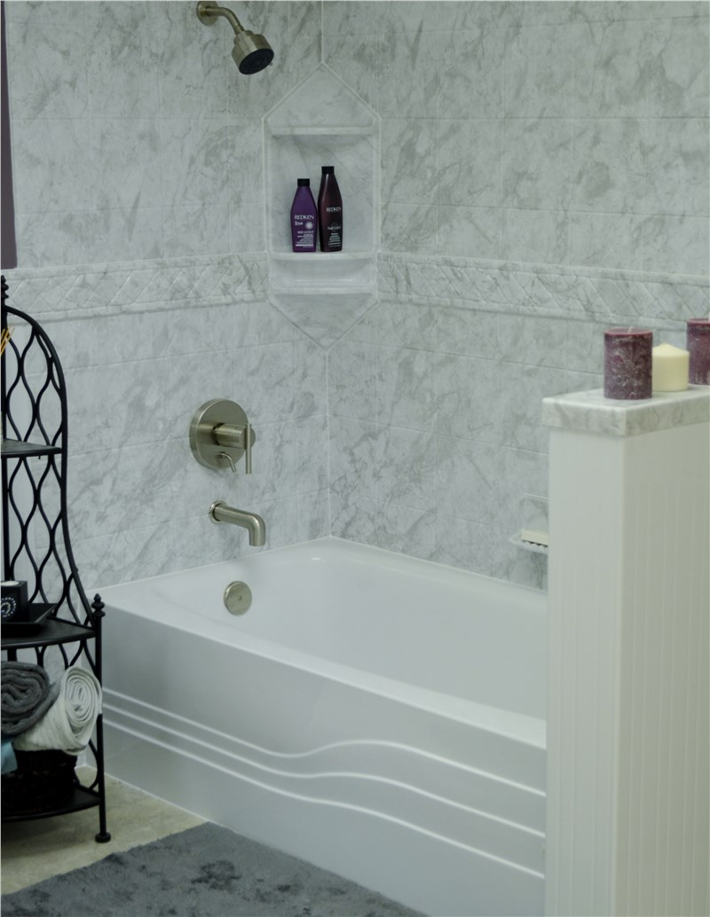 Remodel with Acrylic Shower Wall Surrounds that Look Like Tile