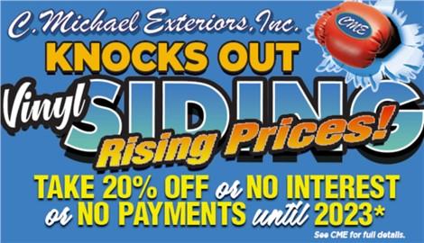 Before you go! Take advantage of Siding Savings!