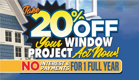 Before You Go – Save 20% on Windows or a Bath Project!