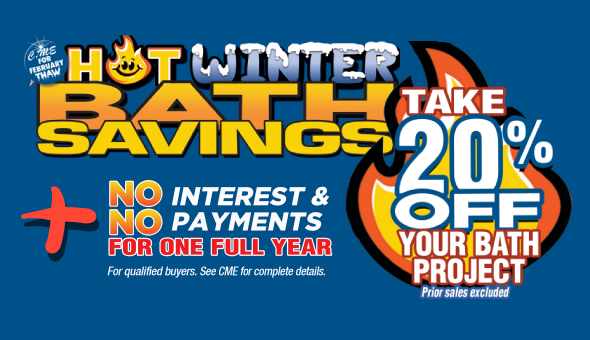 Hot Winter Bath Savings - Take 20% Off Your Bath Project