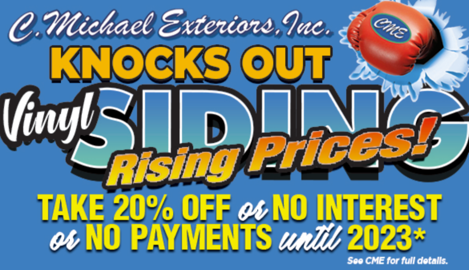 Knock Out Vinyl Siding's Rising Prices - Take 20% Off New Siding Projects