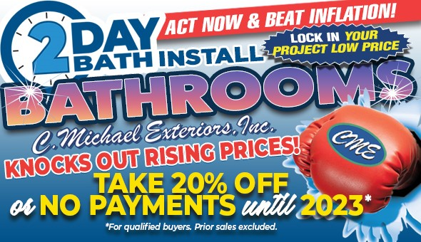Beat Inflation with a Locked-In Price - Take 20% Off a New 2 Day Bath Installation