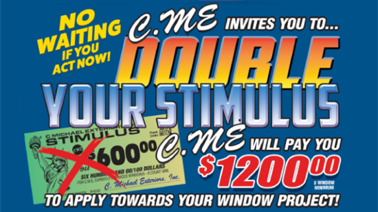 Double Your Stimulus - Plus No Interest & No Payments Until 2022