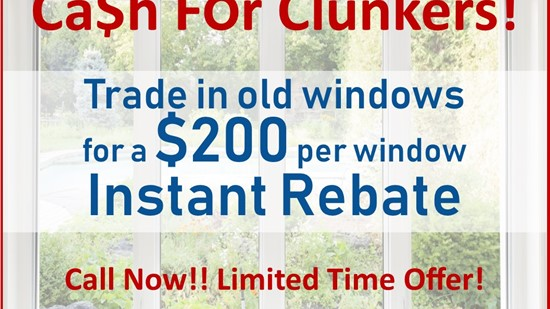 TRADE IN YOUR OLD WINDOWS FOR AN INSTANT REBATE!