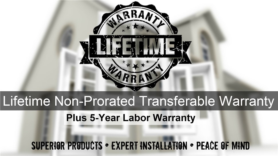 Lifetime Non-Prorated Transferable Warranty Plus 5 Year Labor Warranty